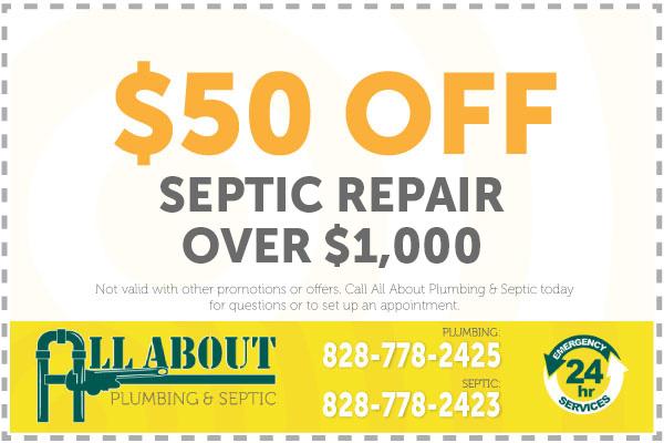 $50 Off Septic Repair Over $1,000