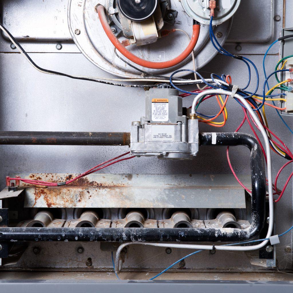 inside a furnace