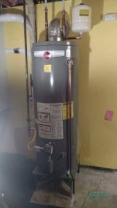 A Picture of a Rheem Water Heater Unit