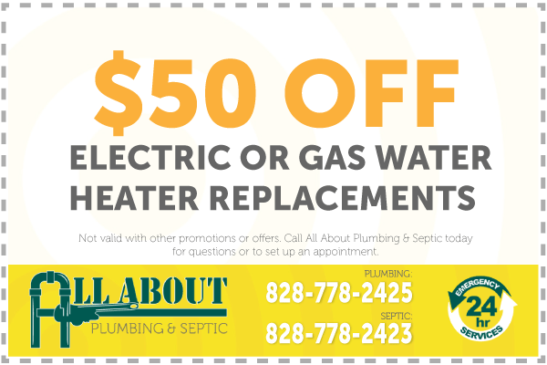 $50 Off Water Heaters Coupon