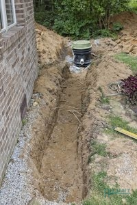 A Picture of a Grinder Pump Installation