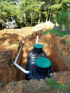 A Picture of a Septic Tank Installation
